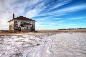 An abandoned schoolhouse in north Codington County taken on Jan. 10.