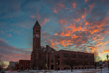 The sunset clouds over Sioux Falls were quite spectacular after work on Jan. 14.