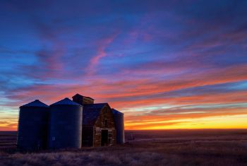 Predawn clouds at Fort Pierre National Grasslands.