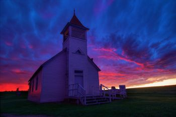 Buffalo Lake Church after the storm.