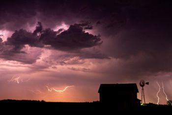 A night storm in McCook County.