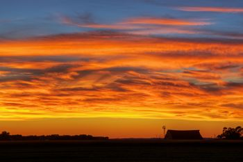 Bon Homme County sunset.