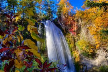 Morning light on Spearfish Falls.