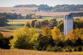 Minnehaha County farm country with fall accents.