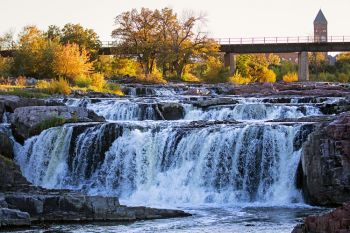 Falls Park in central Sioux Falls.