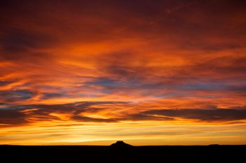 A fiery sunset above Thunder Butte in Ziebach County. This was taken on Christmas Day 2011, not quite a month after Uncle Jack passed.