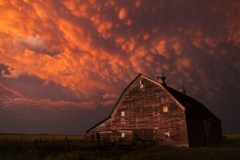McCook County barn after a severe storm.