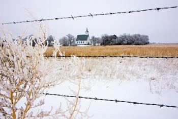 The church at Bonilla (just off Highway 281) in northwest Beadle County.
