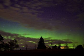 My first image of the northern lights over Pioneer Cemetery on November 14, 2012. Click to enlarge photos.