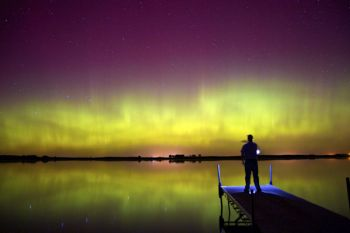 This image was taken in the early hours of October 2 at Island Lake north and east of Montrose, SD.