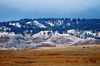 A dusting of snow on the East Short Pine Hills. Taken in December of 2011.