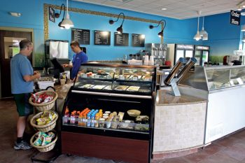 South Dakota State University's dairy bar serves ice cream and other treats produced on campus.