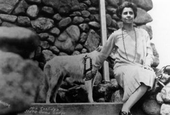 First Lady Grace Coolidge brought the couple's two collies, Rob Roy and Prudence Prim, and pet raccoon, Rebecca, along with them on their South Dakota vacation.