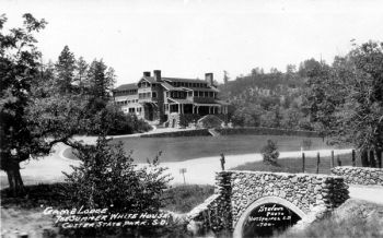 The State Game Lodge at Custer State Park served as the summer White House while the Coolidges vacationed there.