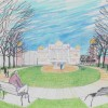 An artist s rendering shows a park across the street from Mitchell s Corn Palace.
