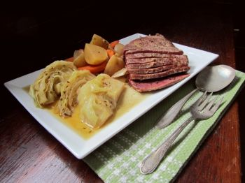 Corned beef and cabbage is tradition on St. Patrick's Day.