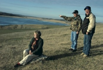 Connie and Marvin Piotter, and their friend and neighbor Bill Klein (center), never cease to enjoy their Roberts County lakescapes.