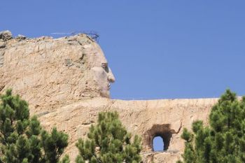 Visitors to Crazy Horse Memorial will be able to hike up the mountain carving this weekend. Photo by Bernie Hunhoff.