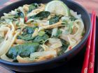 Curried chicken noodle soup is a warm and comforting treat when you re under the weather.