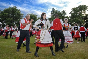 Beseda dancers perform in traditional costumes at Czech Days in Tabor. Photo by Chad Coppess, SD Tourism.