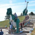 Dinosaur Park is a free attraction containing seven sculptures on a hill overlooking Rapid City.