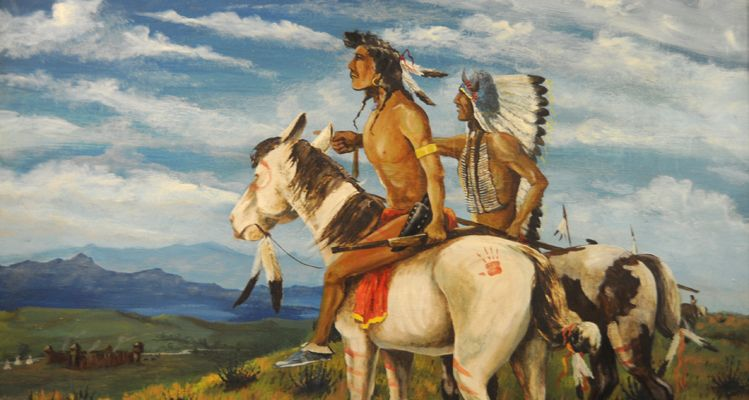 The Klein museum has many pieces of original art, including this painting by noted Sisseton author and artist Paul War Cloud Grant.