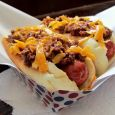 Melty gooeyness is essential for this deviled chili cheese dog recipe. (Click photo to enlarge)