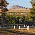 Fort Meade National Cemetery, no longer open to burials, lies near Bear Butte just east of Sturgis. Photo by John Mitchell.