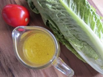 Tart lemon and fine bits of garlic create a bright dressing ideal for zinging up winter salads.