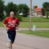 Gary Pauley runs in his home town of Parker, South Dakota.