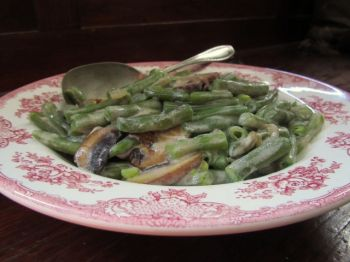 Fran's recipe for fresh green beans in rich, creamy sauce elevates a holiday favorite to new heights. Photo by Fran Hill.
