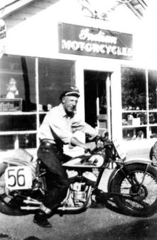 Clarence Hoel started repairing Indian motorcycles when his ice business waned. He established a riding club similar to the Harley Davidson dealers in the Rapid City area, to enhance his new business.