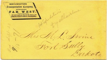 Letcher collector Ken Stach bought a series of envelopes that contained correspondence from Irvine written in the 1860s and 1870s.