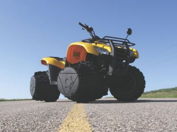 John Mills' snowy Brookings County farm inspired the creation of J-Wheelz, an ATV tire attachment that adds traction without hindering drivability.