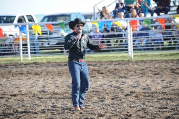 McDonald woos and wows the Burke rodeo fans.