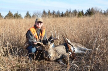 Our Circulation Director Jana Lane got the 5-point buck that folks from the Jim River valley have been watching since this summer.