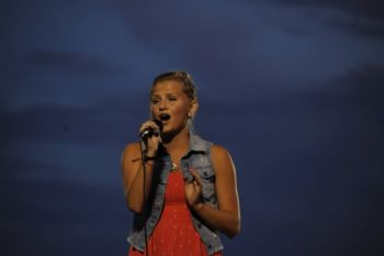 Katie Eliason, a 17-year-old from Madison, won the talent contest at Burke.
