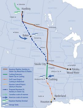 The proposed Keystone XL pipeline will enter South Dakota in northwest Harding County and run southeast through West River country, exiting southeast of Winner.