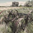 Abandoned farm equipment on Eden Road near Newell