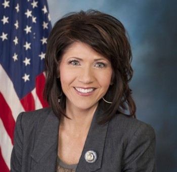 Stephanie Strong is able to mount a challenge to U.S. Representative Kristi Noem, seen here in her official U.S. Congress photo.