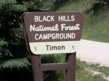 Entrance to Timon Campground. Click to enlarge photos.