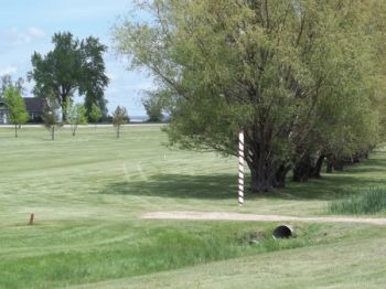 The barber pole has been guarding the par 5 forever.
