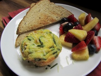 Mini zucchini frittatas are a nice, healthy surprise breakfast for anyone's mom. Photo by Fran Hill.