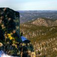 Seth Bullock lookout tower overlooking Pactola Lake, Harney Peak and the Black Hills.