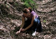 Rebecca Johnson searched for morel mushrooms at an undisclosed location along the Missouri River.