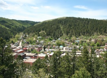 The view of Deadwood from Brown Rocks Overlook.