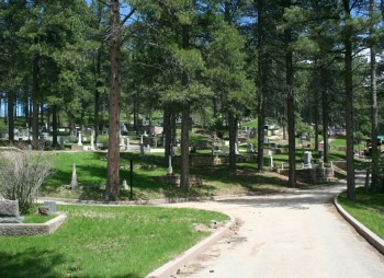 Over 3,400 people are buried in the Mt. Moriah Cemetery in Deadwood. It was established in 1878.
