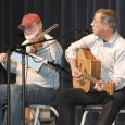 Well-known fiddler Owen DeJong (left) of Wakonda and singer John McNeill of Springfield are regulars at the Gayville Hall.
