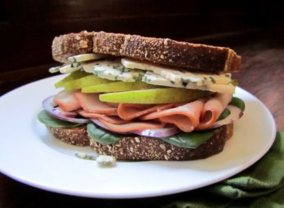 Ham and pears are delicious on their own, but together they make a unique fall sandwich.