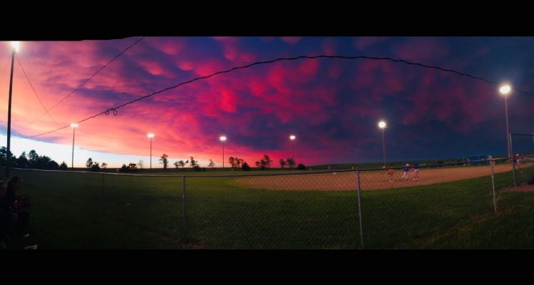 Melissa Halligan sent us this photo of the Clearfield baseball field, taken on May 24 after a storm rolled through. She calls it  Clearfield of Dreams.
